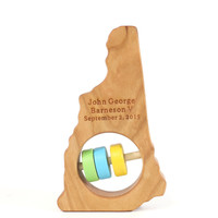 New Hampshire State Wooden Baby Rattle™