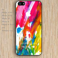 iPhone 5s 6 case flowers watercolor colorful phone case iphone case,ipod case,samsung galaxy case available plastic rubber case waterproof B528