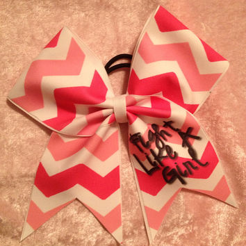 Cheer Bow - Breast Cancer Awareness SUblimated Cheer Bow/Fight Like a Girl
