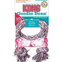 Puppy Goodie Bone With Rope -  X-Small