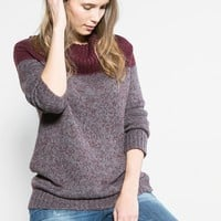 Contrast flecked sweater