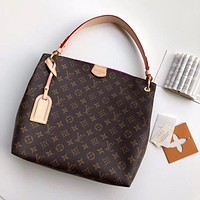 LV Louis Vuitton MONOGRAM CANVAS GRACEFULL MM HANDBAG TOTE BAG