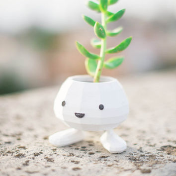 Oddish Planter 3D Printed Pokemon Planter, cute, monster, geekery, Home & Garden