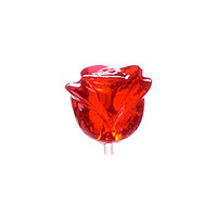 Twinkle Candy 3-D Red Rose Lollipops: 120-Piece Bag