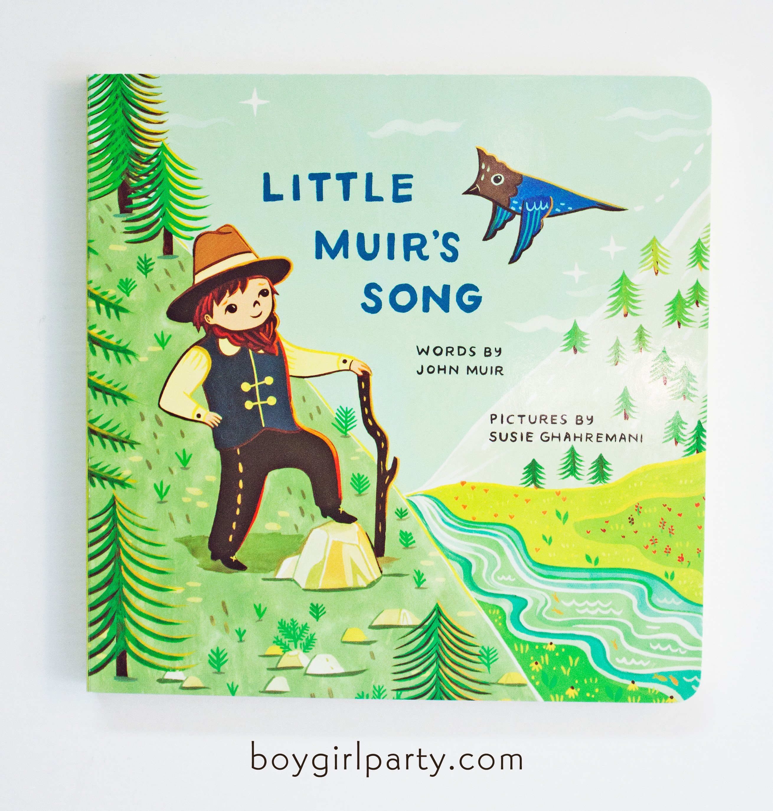 Image of Little Muir's Song -- Children's Picture Board Book by John Muir, illustrated by Susie Ghahremani
