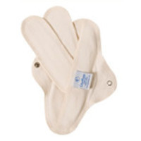 GladRags Washable Cotton Menstrual Pads Day Pad 1-pack, Organic Undyed Cotton Day Pads
