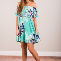 Refreshing Perspective Dress, Mint