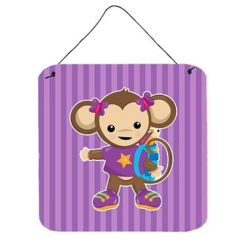 Monkey with Backpack Wall or Door Hanging Prints BB7017DS66