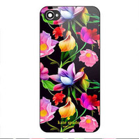 NEW KATE SPADE Colorful Floral CUSTOM PRINT On Hard Cover Case For iPhone 7