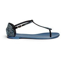 Giuseppe Zanotti Design 'Rock' crystal pavé suede thong sandals