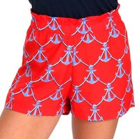 Lost At Sea Red Nautical Rope Shorts | Monday Dress Boutique