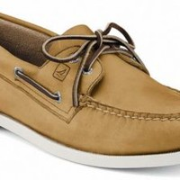 Sperry Top-Sider Authentic Original 2-Eye Boat Shoe Oatmeal, Size 8W  Men's Shoes