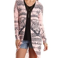Aztec Duster Cardigan Sweater by Charlotte Russe