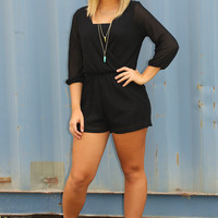 Dances In The Dark Romper: Black