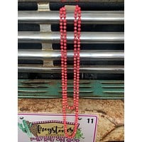 """Hot Pink AB Long Bead Necklace-60""""-BEST SELLER"""