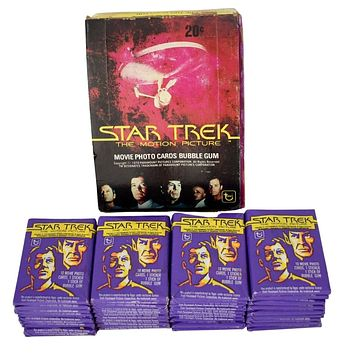 Star Trek The Motion Picture 1979 Topps Trading Cards Display 36 Sealed Packages