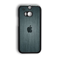 Apple Wood Logo HTC One M9 Case