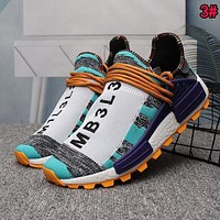 Adidas Human Race NMD Trending Woman Men Casual Sport Running Shoes Sneakers 3# Light Blue I/A