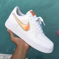 Nike Air Force 1'07 Trending Women Men Running Sneakers Sport Shoes(3D Dazzle Colour Hook)
