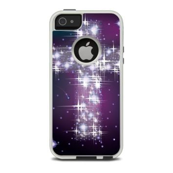 The Glowing Starry Cross Apple iPhone 5-5s Otterbox Commuter Case Skin Set