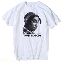 Tupac 2pac t shirt Shakur Hip Hop T Shirts Makaveli rapper Snoop Dogg Biggie Smalls eminem J Cole jay-z Savage hip hop rap music