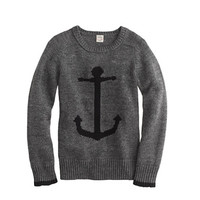 Boys' cotton anchor sweater - cotton - Boy's sweaters - J.Crew