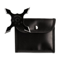 "4"" Black Throwing Star w/ Pouch"