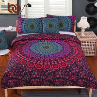 BeddingOutlet Mandala Bedding Set Posture Million Romantic Soft Bedclothes Twill Bohemain Duvet Cover Set with Pillowcases 4pcs
