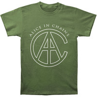 Alice In Chains Men's  AIC Rocks T-shirt Green