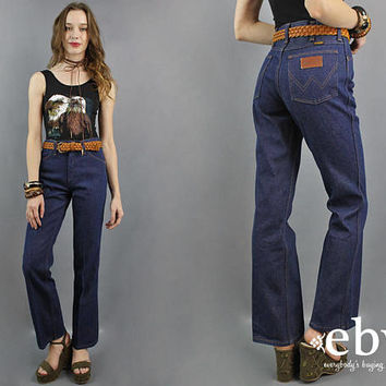 Wrangler Jeans 1970s Jeans 70s Jeans High Waisted Jeans High Waist 70s Denim Vintage Jeans 1970s Denim Men's Jeans Women's Jeans 26 27 S