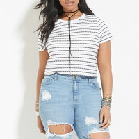 Plus Size Striped Tee | Forever 21 PLUS - 2000169205