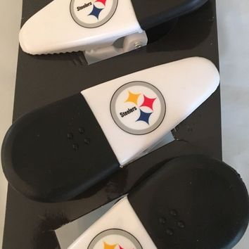 Pittsburgh Steelers Magnetic Chip Clips Many Uses Fridge' Clips Set 3 FREE SHIP