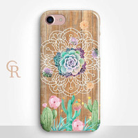 Succulent Phone Case For iPhone 8 iPhone 8 Plus - iPhone X - iPhone 7 Plus - iPhone 6 - iPhone 6S - iPhone SE - Samsung S8 - iPhone 5