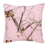 Realtree AP Pink Camo Square Pillow