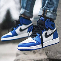 NIKE Air Jordan 1 AJ1 new product stitching color men's and women's low-top sneakers casual shoes Blue