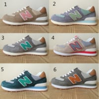 New balance Leisure shoes running shoes men's shoes for women's shoes couples N word Light khaki (6-color)