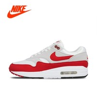 Original New Arrival Authentic Nike AIR MAX 1 ANNIVERSARY Mens Running Shoes Sport Outdoor Sneakers Good Quality 908375-103