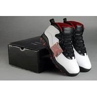 Air Jordan 10 Retro AJ10 White/Black/Red Men Basketball Shoes Size US 7-12