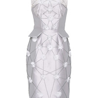 Flower Embroidered Cocktail Dress