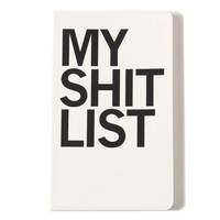 Shit List Notebook