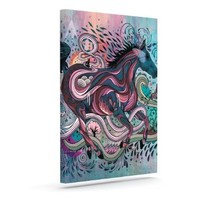 """Kess InHouse Mat Miller """"Poetry in Motion"""" Outdoor Canvas Wall Art, 10 by 12-Inch"""
