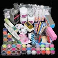 Nail Gel Manicure Set Nail Kit Set Nail Art Tools Polish Nail Set Kit Building Gel Manicure Set A Seto of Tools