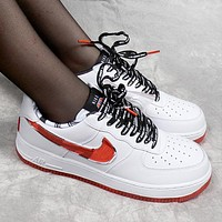 Nike Air Force 1'07 Fashion Women Men Casual Running Sneakers Sport Shoes(Red Hook)