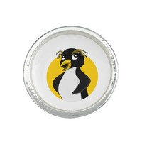 Rockhopper penguin cartoon rings