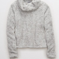 Aerie Sherpa Cowl Top, Medium Heather