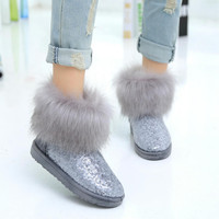On Sale Hot Deal Autumn Cotton Thicken Classics Boots [9257016524]