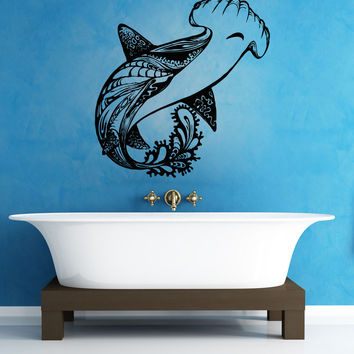 Vinyl Wall Decal Sticker Abstract Hammerhead #OS_AA1382