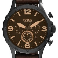 Men's Fossil 'Nate IP' Chronograph Watch, 50mm