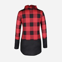 fhotwinter19 new hot sale high-neck tie check long-sleeved T-shirt