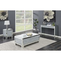G722497 - Layton Occasional Table - Silver And Clear Mirror